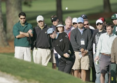 Bradley Dredge during the first round of the 2007 Masters at the Augusta National Golf Club in Augusta, Georgia, on April 5, 2007. The 2007 Masters - First RoundPhoto by Mike Ehrmann/WireImage.com
