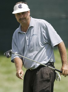 Brad Bryant during the first round of the Ford Senior Players Championship held at TPC Michigan in Dearborn, Michigan, on July 13, 2006.Photo by Gregory Shamus/WireImage.com