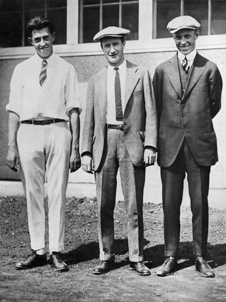 Francis Ouimet, Jerome Travers and Chick Evans