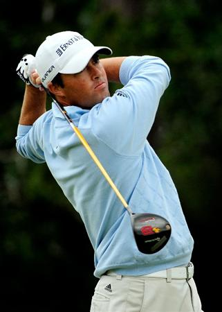 PALM COAST, FL - OCTOBER 31:  Ryan Palmer plays a shot on the 13th hole during the second round of the Ginn sur Mer Classic at the Conservatory Golf Club on October 31, 2008 in Palm Coast, Florida.  (Photo by Sam Greenwood/Getty Images)