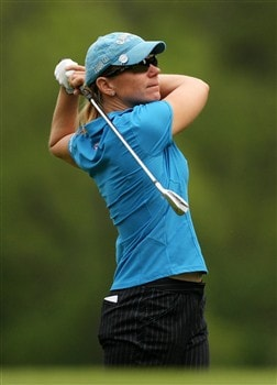 CLIFTON, NJ - MAY 15:  Annika Sorenstam of Sweden watches her second shot on the 13th hole during the first round of the Sybase Classic presented by ShopRite on May 15, 2008 at the Upper Montclair Country Club in Clifton, New Jersey.  (Photo by Travis Lindquist/Getty Images)