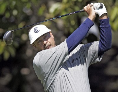 Brad Bryant in action during the second round of the Toshiba Classic, March 18, 2006, held at Newport Beach Country Club, Newport Beach, California.
