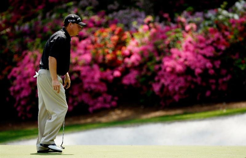 AUGUSTA, GA - APRIL 10:  Chad Campbell walks across the 13th green during the second round of the 2009 Masters Tournament at Augusta National Golf Club on April 10, 2009 in Augusta, Georgia.  (Photo by Jamie Squire/Getty Images)