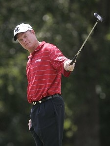 Joe Durant on the 7th hole during the third round of the Southern Farm Bureau Classic at Annandale Golf Club in Madison, Mississippi, on September 30, 2006. Photo by Hunter Martin/WireImage.com