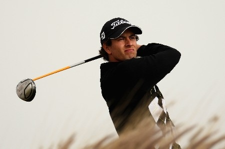 DOHA, QATAR - JANUARY 25:  Adam Scott of Auatralia on the par four 16th hole during the second round of the Commercial Bank Qatar Masters held at the Doha Golf Club on January 25, 2008 in Doha,Qatar.  (Photo by Ross Kinnaird/Getty Images)