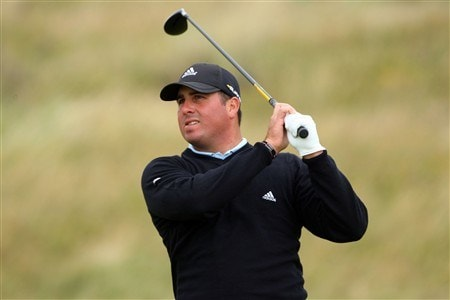 SOUTHPORT, UNITED KINGDOM - JULY 16:  Pat Perez of the USA hits a shot during the third practice round of the 137th Open Championship on July 16, 2008 at Royal Birkdale Golf Club, Southport, England.  (Photo by Stuart Franklin/Getty Images)