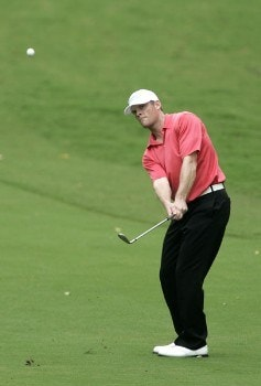 James Driscoll in action during the first round of the Chrysler Classic of Greensboro at Forest Oaks Country Club in Greensboro, North Carolina on September 29, 2005.Photo by Michael Cohen/WireImage.com
