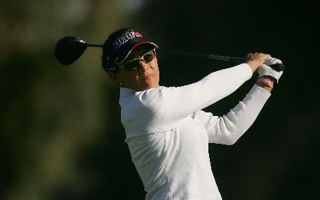 RANCHO MIRAGE, CA - MARCH 29:  Rachel Hetherington of Australia hits her tee shot on the second hole during the first round of the Kraft Nabisco Championship at Mission Hills Country Club on March 29, 2007 in Rancho Mirage, California. (Photo by Scott Halleran/Getty Images)