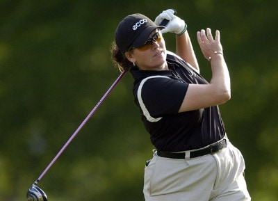 Moira Dunn tees off during the first round of the LPGA Florida's Natural Charity Championship on Thursday, April 20, 2006, at EagleOs Landing Country Club in Stockbridge, Georgia.Photo by Grant Halverson/WireImage.com