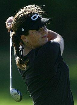 KAPOLEI, HI - FEBRUARY 22:  Lorie Kane of Canada watches her second shot on the fifth fairway during the first round of the Fields Open at Ko Olina Golf Club on February 22, 2007 in Kapolei, Hawaii.  (Photo by Harry How/Getty Images)