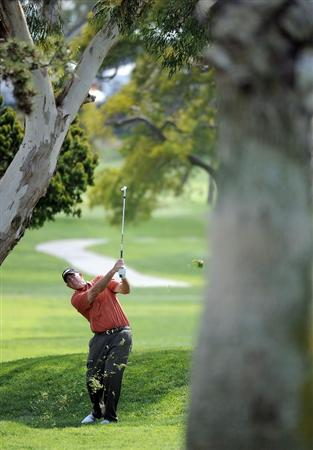 NEWPORT BEACH, CA - MARCH 07:  Tom Lehman hits a second shot on the 11th fairway during the third round of the Toshiba Classic at the Newport Beach Country Club on March 7, 2010 in Newport Beach, California.  (Photo by Harry How/Getty Images)