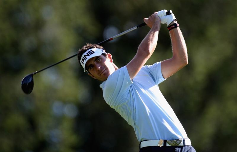 CRANS, SWITZERLAND - SEPTEMBER 05:  Alejandro Canizares of Spain on the par five 14th hole during the second round the Omega European Masters at the Golf Club Crans-sur-Sierre on September 5, 2008 in Crans, Switzerland.  (Photo by Ross Kinnaird/Getty Images)