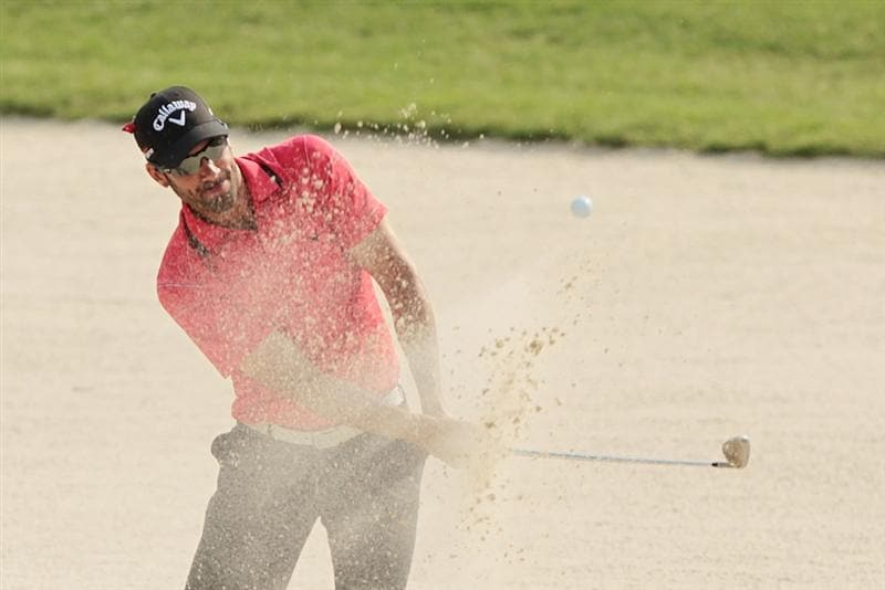 PONTE VEDRA BEACH, FL - MAY 13:  Alvaro Quiros of Spain plays a bunker shot on the 11th hole during the second round of THE PLAYERS Championship held at THE PLAYERS Stadium course at TPC Sawgrass on May 13, 2011 in Ponte Vedra Beach, Florida.  (Photo by Scott Halleran/Getty Images)