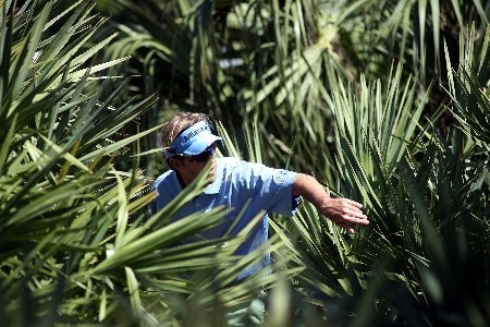 PALM BEACH GARDENS, FL - FEBRUARY 28:  Brett Quigley looks for his ball on the 1st hole during the first round at the Honda Classic at PGA National Resort and Spa on February 28, 2008 in West Palm Beach Gardens, Florida.  (Photo by Marc Serota/Getty Images)