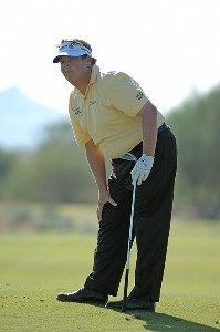 Tim Herron watches his approach shot to the ninth hole during the second round of the Fry's Electronics Open at Grayhawk Golf Club October 19, 2007 in Scottsdale, Arizona. PGA TOUR - 2007 Frys Electronics Open - Second RoundPhoto by Marc Feldman/WireImage.com