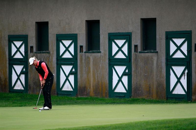 GLADSTONE, NJ - MAY 22:  Suzann Pettersen of Norway putts on the 15th hole during her match against Cristie Kerr in the final of the Sybase Match Play Championship at Hamilton Farm Golf Club on May 22, 2011 in Gladstone, New Jersey.  (Photo by Chris Trotman/Getty Images)