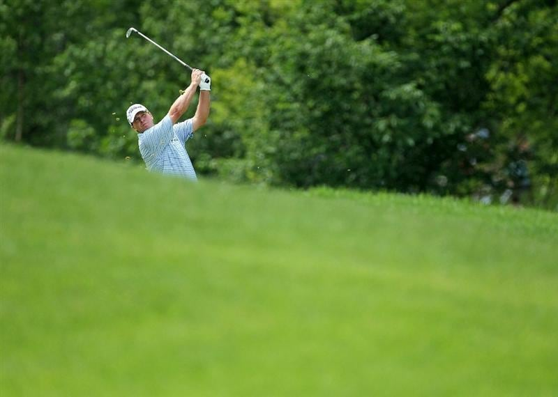 DUBLIN, OH - JUNE 03:  Steve Stricker hits his second shot on the 1st hole during the first round of The Memorial Tournament presented by Morgan Stanley at Muirfield Village Golf Club on June 3, 2010 in Dublin, Ohio.  (Photo by Andy Lyons/Getty Images)