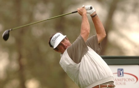 Bruce Lietzke hits from the 11th tee during the second round of the Champions Tour 2005 Charles Schwab Cup Championship at Sonoma Golf Club in Sonoma, California October 28, 2005.Photo by Steve Grayson/WireImage.com