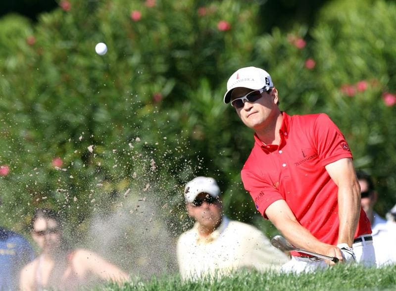 PALM HARBOR, FL - MARCH 18:  Zach Johnson plays a shot on the 17th hole during the second round of the Transitions Championship at Innisbrook Resort and Golf Club on March 18, 2011 in Palm Harbor, Florida.  (Photo by Sam Greenwood/Getty Images)