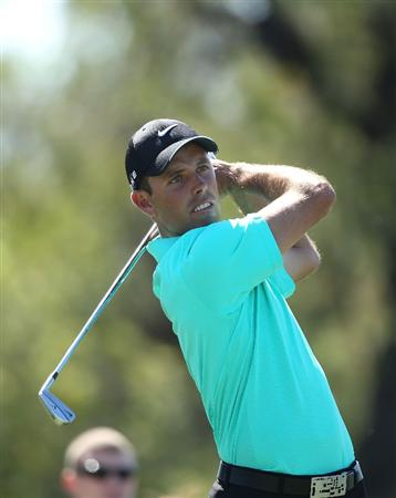 DORAL, FL - MARCH 13:  Charl Schwartzel of South Africa tees off on the fifth tee box during round three of the 2010 WGC-CA Championship at the TPC Blue Monster at Doral on March 13, 2010 in Doral, Florida.  (Photo by Scott Halleran/Getty Images)