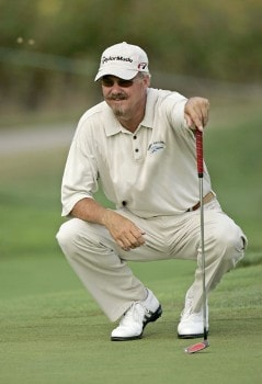 Gary McCord on the 11th hole during the first round of the 2005 Constellation Energy Classic at Hayfields Country Club in Hunt Valley, Maryland on September 16, 2005.Photo by Mike Ehrmann/WireImage.com