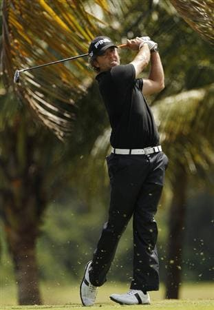 RIO GRANDE, PR - MARCH 11:  Chris Tidland hits a tee shot during the second round of the Puerto Rico Open presented by seepuertorico.com at Trump International Golf Club on March 11, 2011 in Rio Grande, Puerto Rico.  (Photo by Michael Cohen/Getty Images)