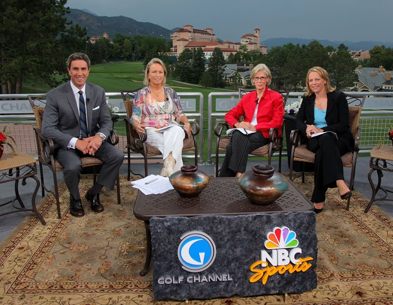 Annika Sorenstam on the Golf Channel set, July 6, 2011