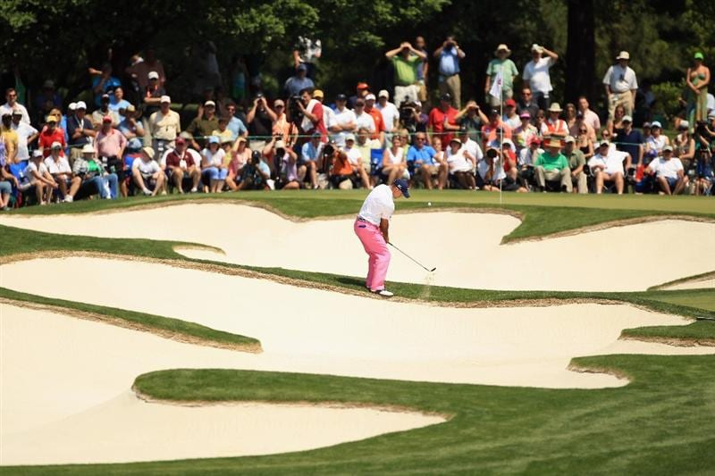 CHARLOTTE, NC - MAY 08:  Jonathan Byrd hits a shot out of the sand on the 5th hole during the final round of the Wells Fargo Championship at Quail Hollow Club on May 8, 2011 in Charlotte, North Carolina.  (Photo by Streeter Lecka/Getty Images)