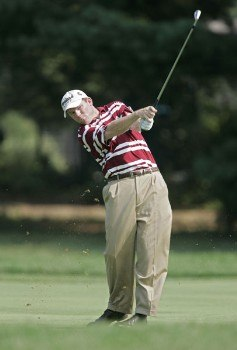 Shaun Micheel during the first round of the 2005 PGA Championship at Baltusrol Golf Club in Springfield, New Jersey on August 11, 2005.Photo by Hunter Martin/WireImage.com