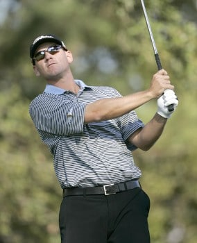 Jason Schultz during the first round of the Nationwide Tour Championship held  on the Senator course at Capitol Hill GC in Prattville, Alabama on Thursday, October 27, 2005.Photo by Sam Greenwood/WireImage.com