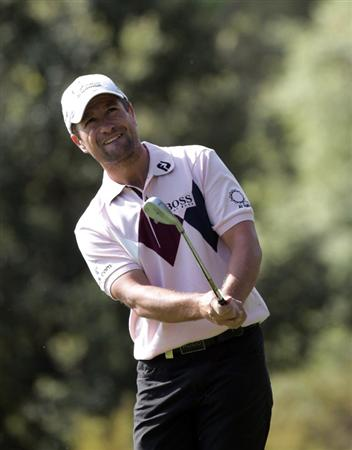 BARCELONA, SPAIN - MAY 06:  Steve Webster of England during the second round of the Open de Espana at the the Real Club de Golf El Prat on May 6 , 2011 in Barcelona, Spain.  (Photo by Ross Kinnaird/Getty Images)