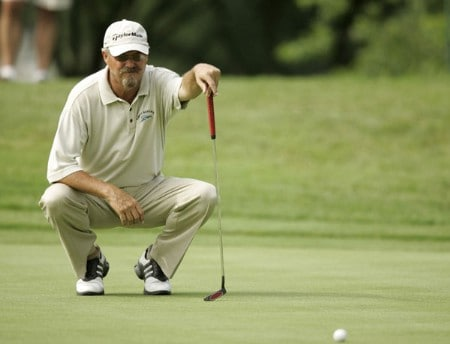 Gary McCord on the 17th hole during the first round of the Commerce Bank Championship being held at the Eisenhower Park Red Course in East Meadow, New York on Friday July 1, 2005.Photo by Mike Ehrmann/WireImage.com