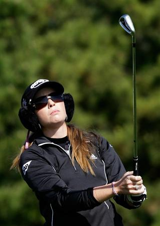 INCHEON, SOUTH KOREA - OCTOBER 29:  Paula Creamer of United States hits a tee shot on the third hole during the 2010 LPGA Hana Bank Championship at Sky 72 golf club on October 29, 2010 in Incheon, South Korea.  (Photo by Chung Sung-Jun/Getty Images)