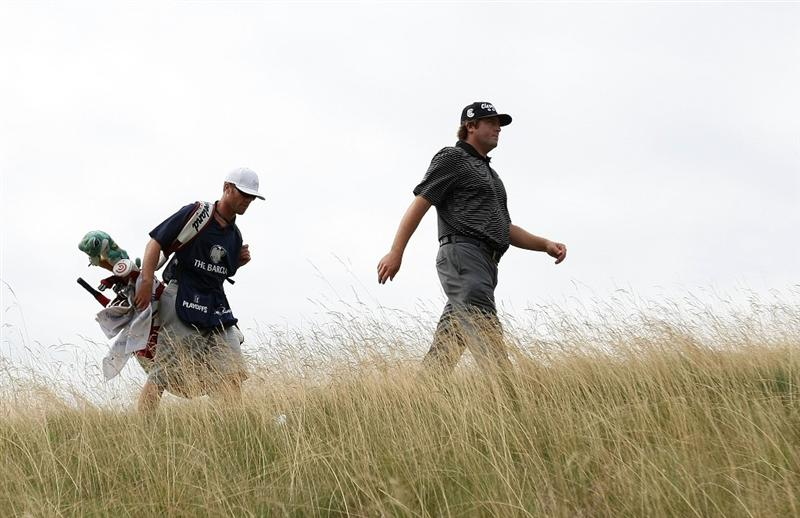 JERSEY CITY, NJ - AUGUST 27:  Steve Marino walks to the 12th fairway during round one of The Barclays on August 27, 2009 at Liberty National in Jersey City, New Jersey.  (Photo by Nick Laham/Getty Images)