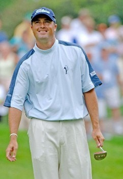 Ryan Palmer plays the 16th hole during the second round of the 2005 Cialis Western Open at Cog Hill Golf and Country Club in Lemont, Illinois on Friday, July 1, 2005.Photo by Al Messerschmidt/WireImage.com