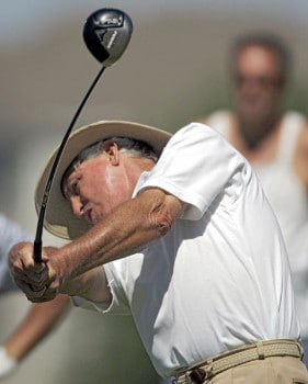 Dave Eichelberger in action during the second round of the 2005 3M Championship at the TPC of the Twin Cities in Blaine, Minnesota on August 6, 2005.Photo by Gregory Shamus/WireImage.com