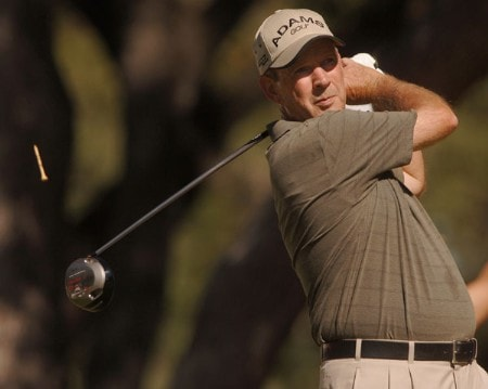 Tom Jenkins hits from the seventh tee during the first round of the Champion's TOUR 2005 SBC Championship at Oak Hills Country Club in San Antonio, Texas October 21, 2005.Photo by Steve Grayson/WireImage.com