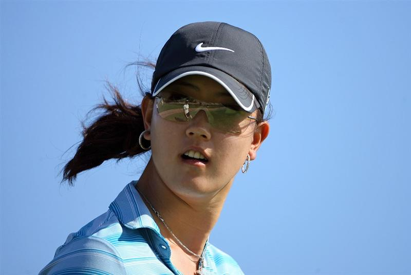 KAHUKU, HI - FEBRUARY 13:  Michelle Wie is pictured on the 3rd hole during the second round of the SBS Open on February 13, 2009 at the Turtle Bay Resort in Kahuku, Hawaii.  (Photo by Andy Lyons/Getty Images)