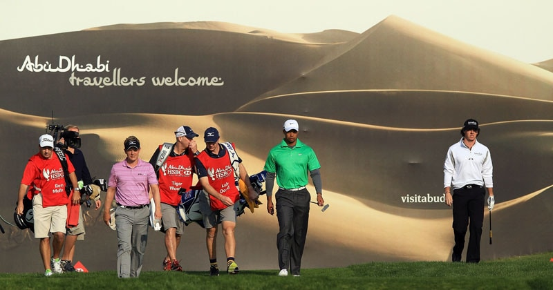 Luke Donald, Tiger Woods and Rory McIlroy
