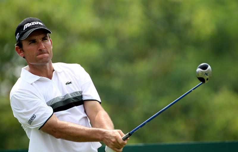 KUALA LUMPUR, MALAYSIA - MARCH 07:  Ignacio Garrido of Spain during the final round of the Maybank Malaysia Open at the Kuala Lumpur Golf & Country on March 7, 2010 in Kuala Lumpur, Malaysia.  (Photo by Ross Kinnaird/Getty Images)