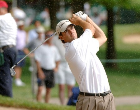Mario Tiziani plays from the rough on the 16th hole during the first round of the 2005 Cialis Western Open at Cog Hill Golf and Country Club in Lemont, Illinois on June 30, 2005.Photo by Al Messerschmidt/WireImage.com