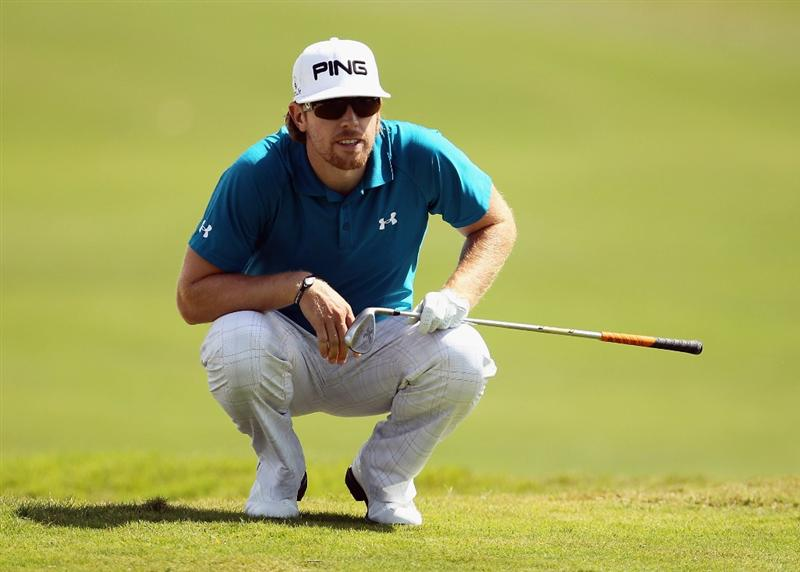 DORAL, FL - MARCH 12:  Hunter Mahan looks over the first green during the third round of the 2011 WGC- Cadillac Championship at the TPC Blue Monster at the Doral Golf Resort and Spa on March 12, 2011 in Doral, Florida.  (Photo by Mike Ehrmann/Getty Images)