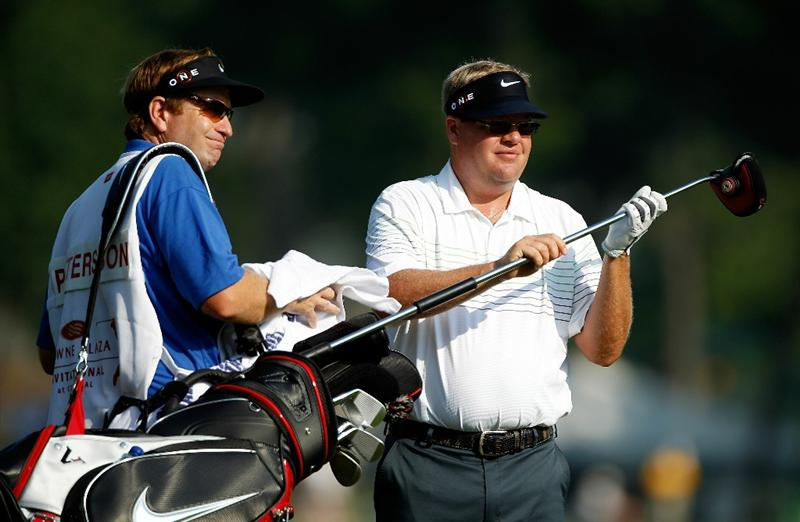 FT. WORTH, TX - MAY 28:  Carl Petterson of Sweden waits with his caddie Grant Berry on the third hole during the second round of the 2010 Crowne Plaza Invitational at the Colonial Country Club on May 28, 2010 in Ft. Worth, Texas  (Photo by Scott Halleran/Getty Images)