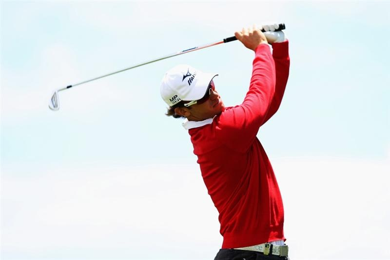 PORTO SANTO ISLAND, PORTUGAL - MAY 19:  Magnus A Carlsson of Sweden tees off 17th hole during day one of the Madeira Islands Open on May 19, 2011 in Porto Santo Island, Portugal.  (Photo by Dean Mouhtaropoulos/Getty Images)