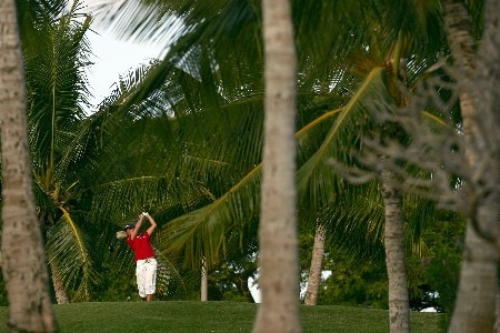 KAPOLEI, HI - FEBRUARY 23:  Nicole Perrot of Chile hits a tee shot on the second hole during the second round of the Fields Open at Ko Olina Golf Club on February 23, 2007 in Kapolei, Hawaii.  (Photo by Harry How/Getty Images)