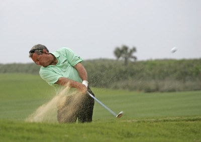 Fuzzy Zoeller during the first round of The Ginn Championship at Hammock Beach held on The Ocean Course at Hammock Beach in Palm Coast, Florida, on March 30, 2007. Photo by: Chris Condon/PGA TOURPhoto by: Chris Condon/PGA TOUR