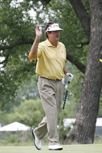 Bruce Lietzke on hole 14 during the third round of the U.S. Senior Open at Prairie Dunes Country Club in Hutchinson,  Kansas on July 8, 2006.Photo by G. Newman Lowrance/WireImage.com