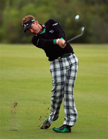 CASARES, SPAIN - MAY 20:  Ian Poulter of England in action during the group stages of the Volvo World Match Play Championship at Finca Cortesin on May 20, 2011 in Casares, Spain.  (Photo by Andrew Redington/Getty Images)