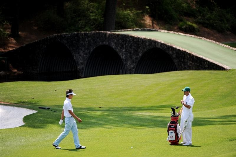 AUGUSTA, GA - APRIL 10:  Amateur Danny Lee of New Zealand prepares to play a shot on the 11th hole during the second round of the 2009 Masters Tournament at Augusta National Golf Club on April 10, 2009 in Augusta, Georgia.  (Photo by Harry How/Getty Images)