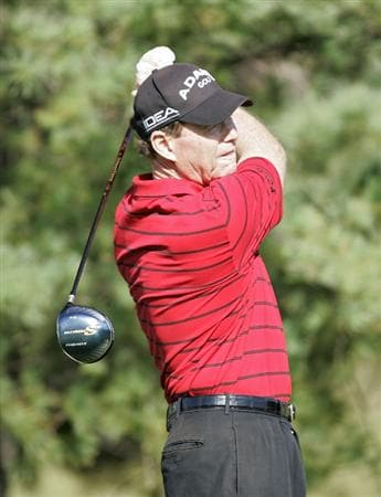 TIMONIUM, MD - OCTOBER 04: Tom Watson hits his drive on the 12th hole during the final round of the Constellation Energy Senior Players Championship at Baltimore Country Club/Five Farms (East Course) held on October 4, 2009 in Timonium, Maryland (Photo by Michael Cohen/Getty Images)